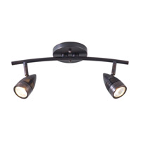 Bullet 2 Light Oil Rubbed Bronze Linear Track Ceiling Light