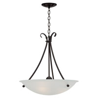 Georgian 3 Light 20 inch Mocha Pendant Ceiling Light