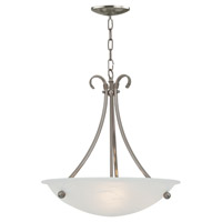 Georgian 3 Light 20 inch Satin Nickel Pendant Ceiling Light