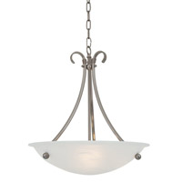 Georgian 3 Light 16 inch Satin Nickel Pendant Ceiling Light