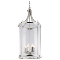 DVI Lighting Niagara 6 Light Pendant in Chrome with Clear Glass DVP4411CH