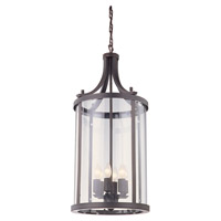 DVI Lighting Niagara 6 Light Pendant in Oil Rubbed Bronze with Clear Glass DVP4411ORB