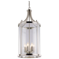 DVI Lighting Niagara 6 Light Pendant in Satin Nickel with Clear Glass DVP4411SN