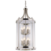 DVI Lighting Niagara 12 Light Pendant in Satin Nickel with Clear Glass DVP4412SN