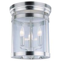 DVI Lighting Niagara 3 Light Flush Mount in Chrome with Clear Glass DVP4432CH