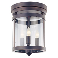 DVI Lighting Niagara 3 Light Flush Mount in Oil Rubbed Bronze with Clear Glass DVP4432ORB