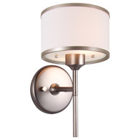 Milan 1 Light 7 inch Buffed Nickel Wall Sconce Wall Light in Sateen White Shade