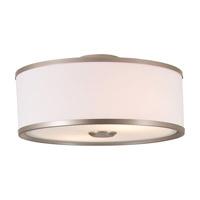DVI Lighting Milan 3 Light Semi Flush Mount in Buffed Nickel with Sateen White Shade DVP5303BN-SW