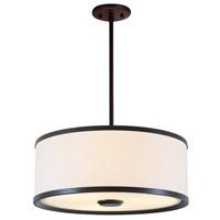 DVI Lighting Milan 3 Light Pendant in Mocha with Sateen White Shade DVP5306MO-SW