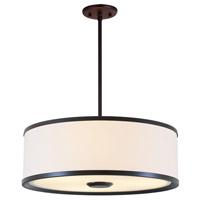 DVI Lighting Milan 3 Light Pendant in Mocha with Sateen White Shade DVP5308MO-SW