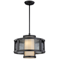 DVI Lighting Isabella 2 Light Pendant in Graphite with Half Opal Glass DVP5413GR-OP