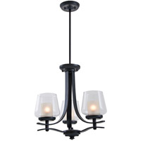 Isabella 3 Light 18 inch Oil Rubbed Bronze Semi Flush Chandelier Convertible Ceiling Light