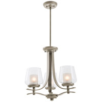 Isabella 3 Light 18 inch Satin Nickel Semi Flush Chandelier Convertible Ceiling Light