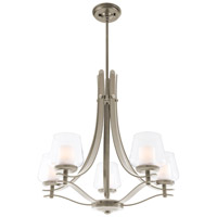 Isabella 5 Light 27 inch Satin Nickel Chandelier Ceiling Light