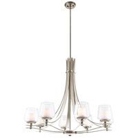 DVI Lighting Isabella 8 Light Chandelier in Satin Nickel with Half Opal Glass DVP5428SN-OP