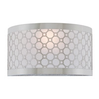 DVI Lighting Trilogy 1 Light Wall Sconce in Chrome with Stardust Shade DVP5801CH-SD