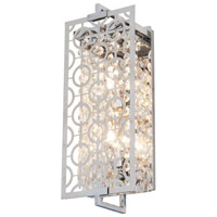 DVI Lighting Eclipse 2 Light Wall Sconce in Chrome with Crystal Droplets DVP5863CH-CRY