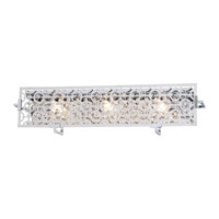 DVI Lighting Eclipse 3 Light Bathroom Vanity in Chrome with Crystal Droplets DVP5873CH-CRY