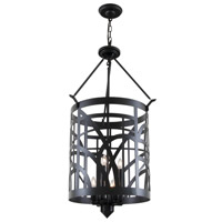 River Heights 6 Light 20 inch Graphite Foyer Pendant Ceiling Light