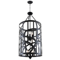 DVI Lighting River Heights 12 Light Foyer Pendant in Graphite DVP5914GR