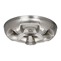 DVI Lighting Velocity 5 Light Flush Mount in Buffed Nickel with Acid Etched Glass DVP6165BN