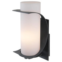 DVI Lighting Ariel 1 Light Outdoor Wall Sconce in Black with Acrylic Glass DVP6272BK