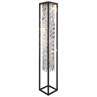 DVI Lighting Amethyst 6 Light Floor Lamp in Graphite with Clear Crystals DVP6309GR-CRY