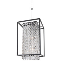 DVI Lighting Amethyst 6 Light Foyer Pendant in Graphite with Clear Crystals DVP6310GR-CRY