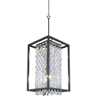 DVI Lighting Amethyst 9 Light Foyer Pendant in Graphite with Clear Crystals DVP6317GR-CRY