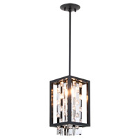 Amethyst 2 Light 7 inch Graphite Mini Pendant Ceiling Light