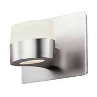 DVI Lighting Europa 1 Light Wall Sconce in Buffed Nickel with Acid Etched Glass DVP6801BN