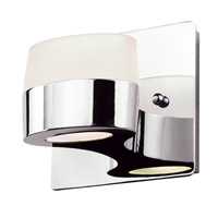 DVI Lighting Europa 1 Light Wall Sconce in Chrome with Acid Etched Glass DVP6801CH