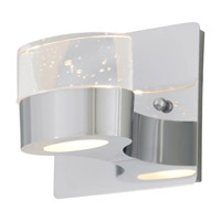 DVI Lighting Neptune 1 Light Wall Sconce in Chrome with Clear Seedy Glass DVP6871CH-SDY