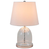 DVI Lighting Vidro 1 Light Table Lamp in Clear Glass with White Shade DVP70T1