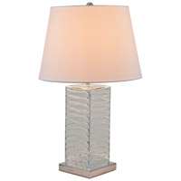 DVI Lighting Vidro 1 Light Table Lamp in Clear Glass with White Shade DVP70T2