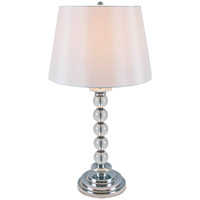 DVI Lighting Vidro 1 Light Table Lamp in Clear Glass with White Shade DVP70T5