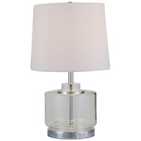 DVI Lighting Vidro 1 Light Table Lamp in Clear Glass with White Shade DVP70T9