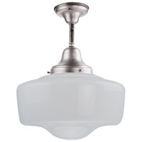 DVI Lighting Schoolhouse 1 Light Semi Flush Mount in Chrome with Opal Glass DVP7511CH