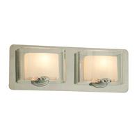 DVI Lighting Chaparral 2 Light Bathroom Vanity in Satin Nickel with Half Opal Glass DVP7822SN-OP