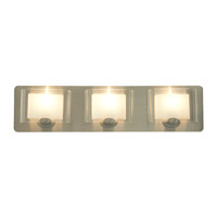 DVI Lighting Chaparral 3 Light Bathroom Vanity in Satin Nickel with Half Opal Glass DVP7843SN-OP