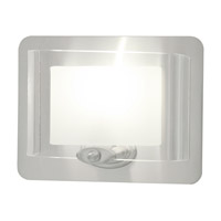 DVI Lighting Chaparral 1 Light Wall Sconce in Chrome with Half Opal Glass DVP7899CH-OP