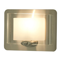 DVI Lighting Chaparral 1 Light Wall Sconce in Satin Nickel with Half Opal Glass DVP7899SN-OP