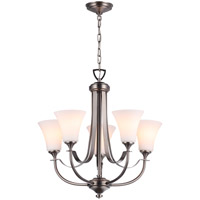 Richmond 5 Light 22 inch Pewter Chandelier Ceiling Light