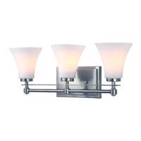 DVI Lighting Richmond 3 Light Bathroom Vanity in Chrome with Opal Glass DVP8343CH-OP
