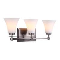 DVI Lighting Richmond 3 Light Bathroom Vanity in Pewter with Opal Glass DVP8343PW-OP