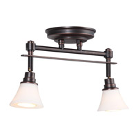 DVI Lighting Richmond 2 Light Track in Mocha with Beige Textured Linen DVP8382ORB-OP