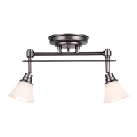 DVI Lighting Richmond 2 Light Track in Pewter with Opal Glass DVP8382PW-OP