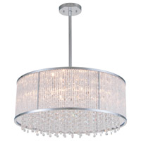 DVI Lighting Sparxx 6 Light Pendant in Chrome with Clear Crystals DVP8505CH-CRY