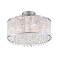 DVI Lighting Sparxx 3 Light Semi Flush Mount in Chrome with Clear Crystals DVP8511CH-CRY