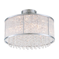 DVI Lighting Sparxx 6 Light Semi Flush Mount in Chrome with Clear Crystals DVP8512CH-CRY